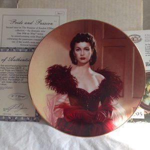 """GONE WITH THE WIND SCARLETT O""""HARA COLLECTOR PLATE"""